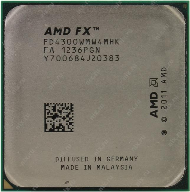 AMD FX 4300, вид сверху