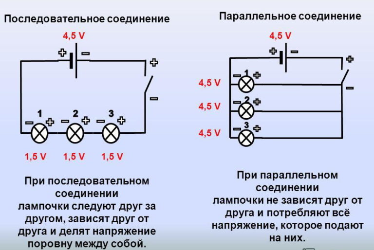 Схема параллельно-последовательного соединения светодиодов